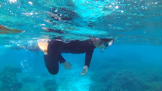 軽やかに泳ぐO智さん