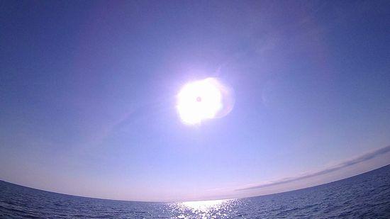 太陽さんのお出迎えです。