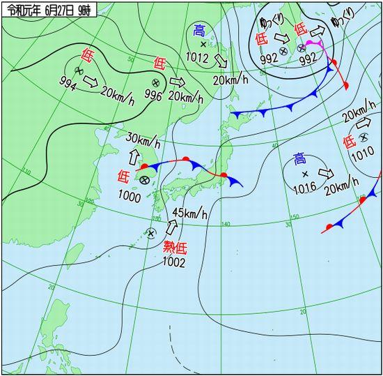 6月の石垣島に熱帯低気圧。。。。
