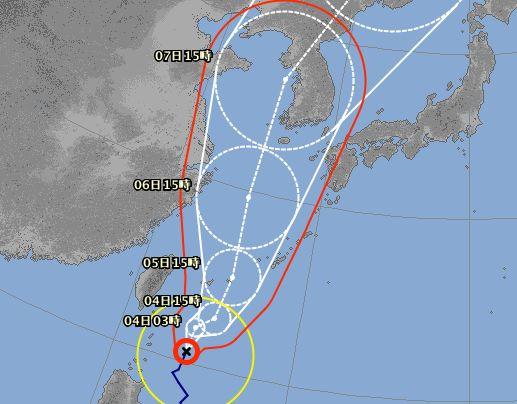 台風13号です