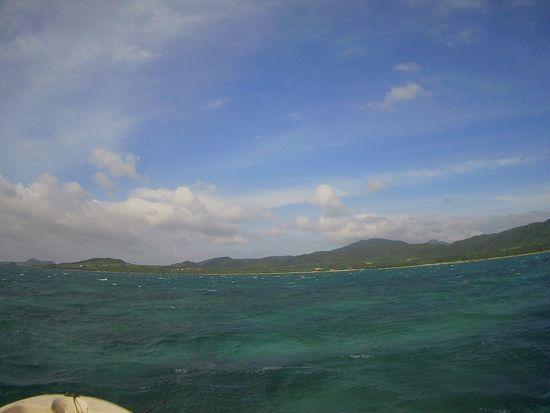 晴れてはいる石垣島ですが。。