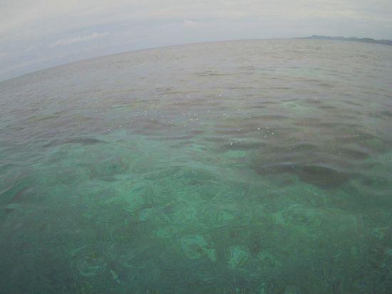 曇りっていますが、穏やかな海の石垣島です。