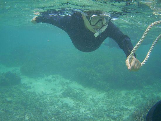 しっかりと海を楽しんでいるK賀さんです。