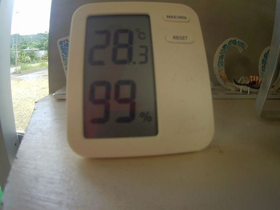 湿度計は、99%です