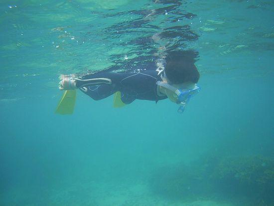 タイチ君、余裕の泳ぎです。