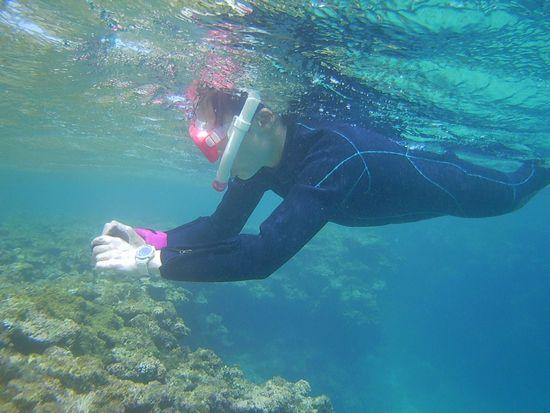 N本さん、水中撮影です