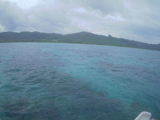天気は曇りの石垣島です。