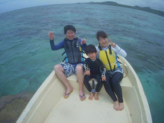 石垣島旅行二回目のシュノーケル、I上さんです。