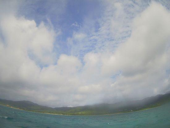 晴れたり曇ったりの天気です。