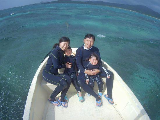 H川さんご家族です。