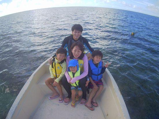 初めての石垣島!K本さんご家族です。