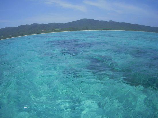 透明度の高い海!
