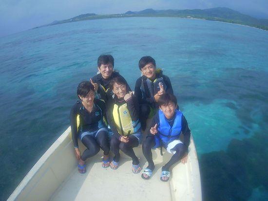 初めての石垣島、N浦さんご家族です。