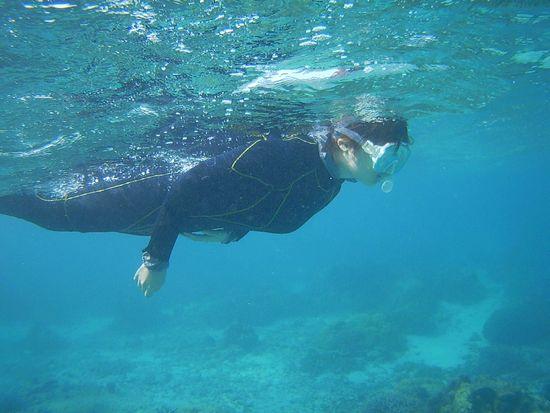余裕の泳ぎのH川さんです。