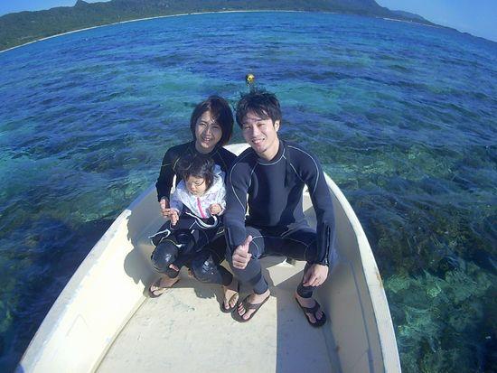 初めての石垣島、I城さんご家族です。