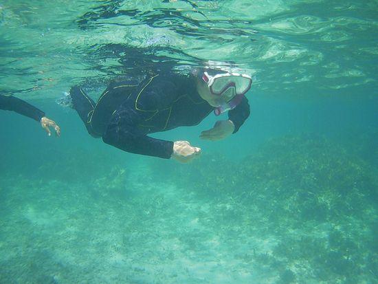 H崎さん余裕の泳ぎです。