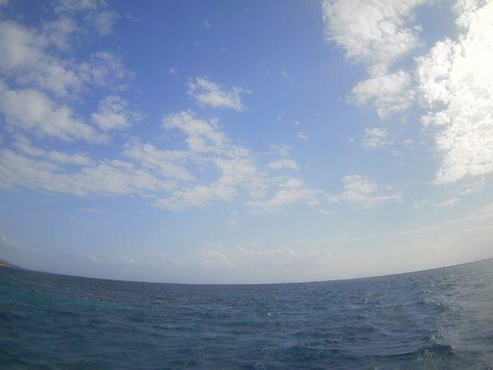 久々に晴れ間の登場の石垣島