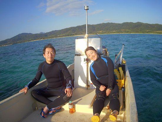 社員旅行で石垣島!I田さんとT沢さんです