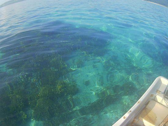 プールのように穏やかな海です