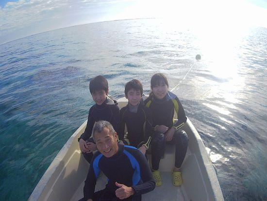 二回目の石垣島、Y田さんご家族です