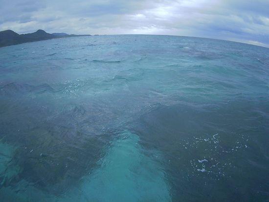 天気は切り替わりの石垣島です