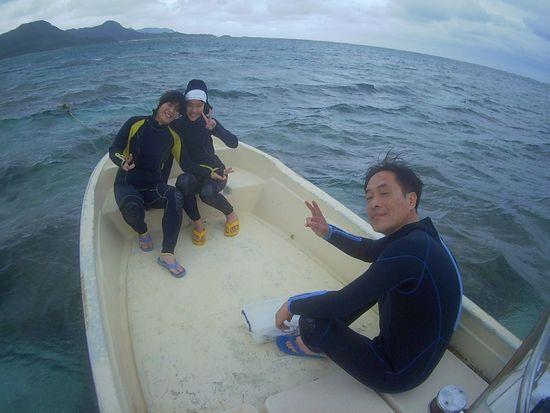 初めての石垣島、S村さんご家族です。