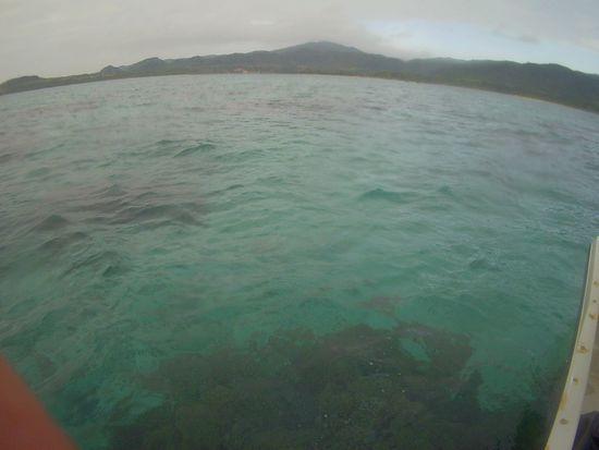 あいにくの曇りの石垣島