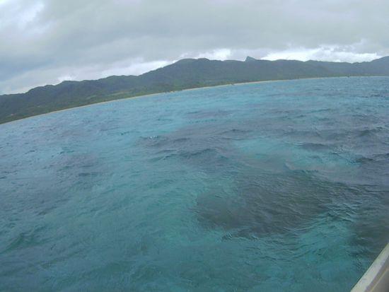 雨は大丈夫、曇りの石垣島です