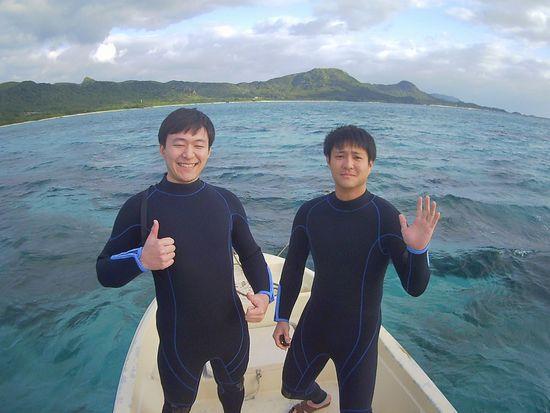 初めての石垣島、S木さんとK田さんです。