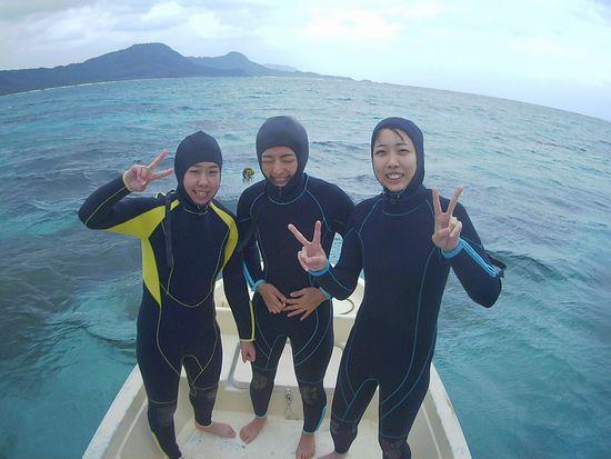 H原さん、Hさん、K子さん、女子旅で石垣島です