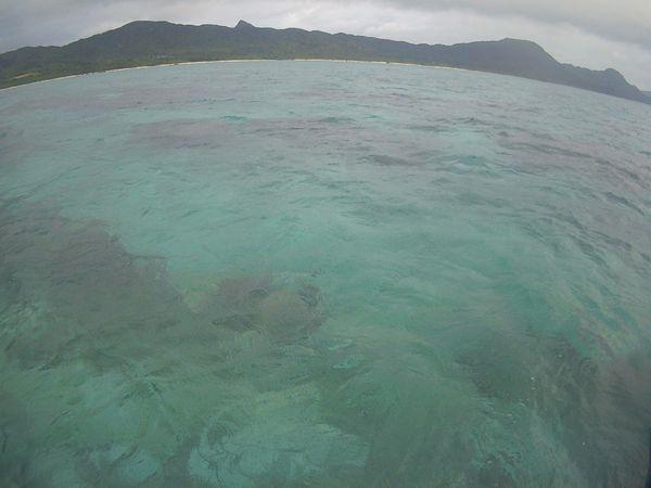 天気予報とは裏腹に曇りの石垣島