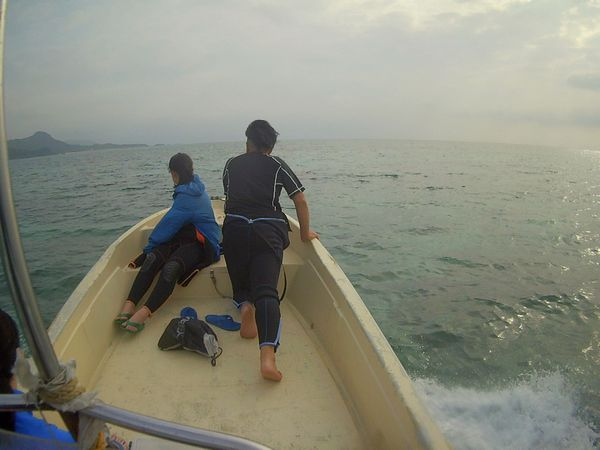 ボートで準備体操