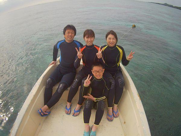 初めての石垣島旅行、K本さんご家族です。