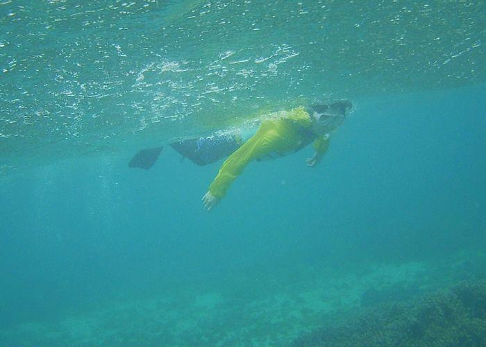 奥さんもゆったり泳いでいます。