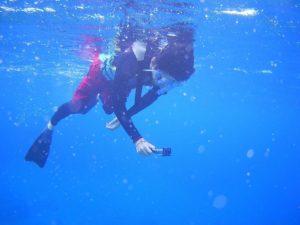 青空はくっきり青!石垣島の空は夏色、シュノーケリング日和です。