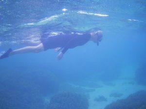 天気は回復の石垣島、波も穏やかシュノーケリング日和