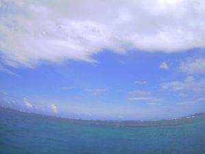 まだ南風が強い石垣島、体育会シュノーケリング!