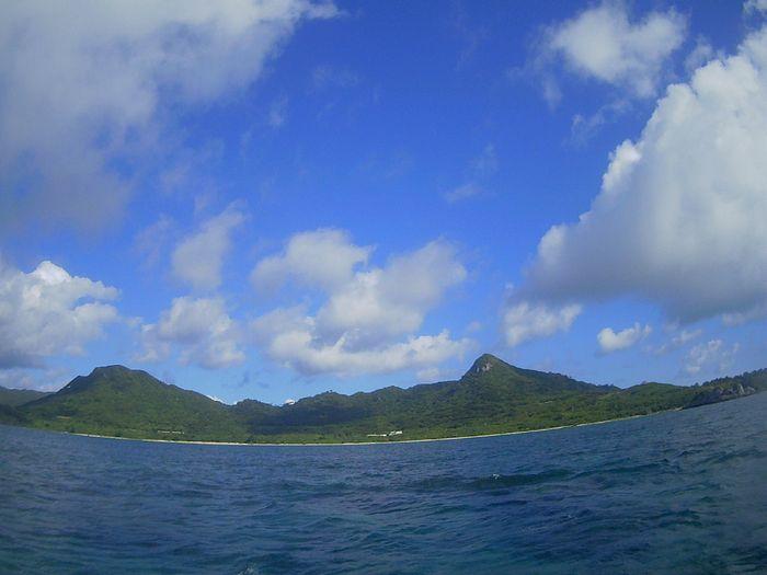 夏海、夏空、夏雲の石垣島です