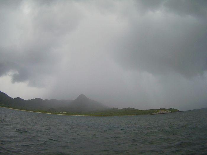 玉取崎展望台は雨ですね。。
