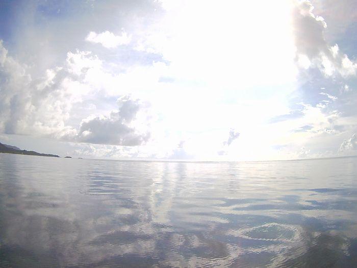 まるでプールのような海