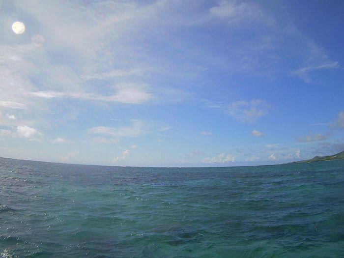 風はありますが、晴れの石垣島