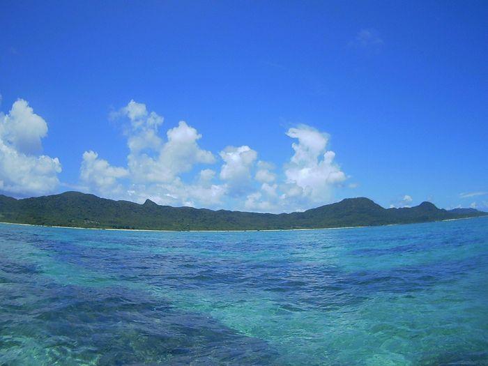 教科書通りの青空の石垣島です。