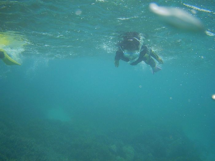 アキちゃん、海に入れば無敵です
