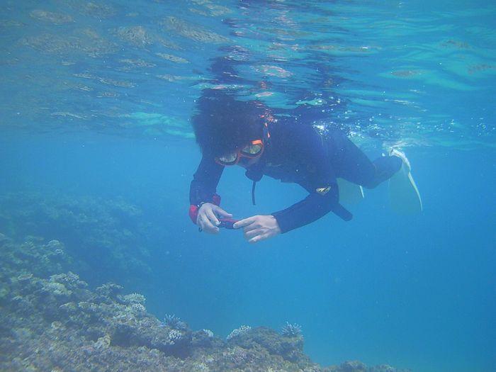 水中撮影を楽しんでいらっしゃいます♪