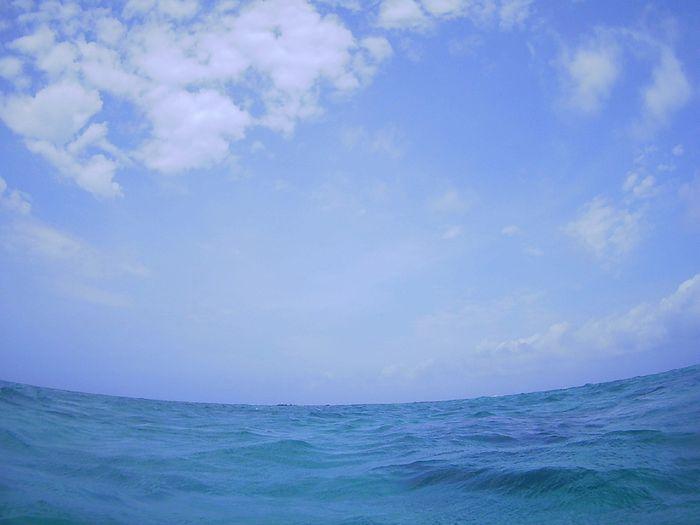 ほんのり青空の石垣島です