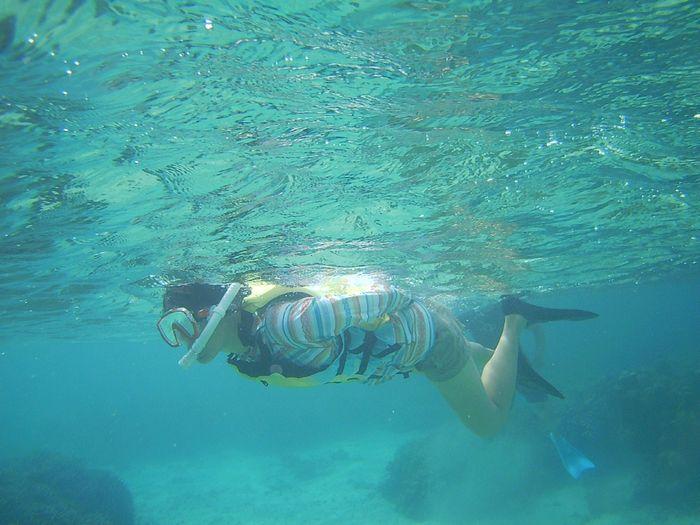 お母さんも石垣島の海を満喫です