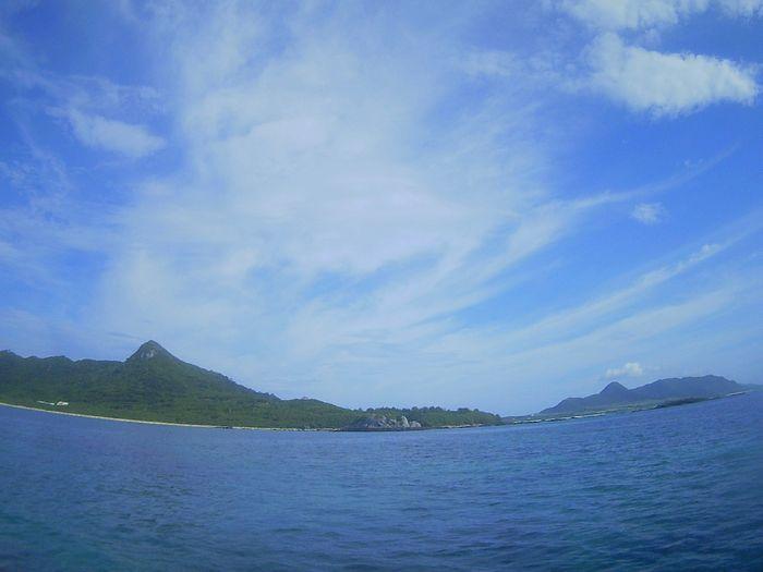 石垣島の天気は晴れ!穏やかな海です