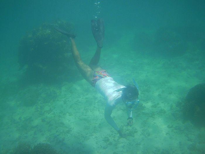 H口旦那さん、余裕の泳ぎです