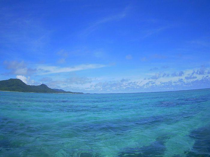 天気は絶好調の石垣島