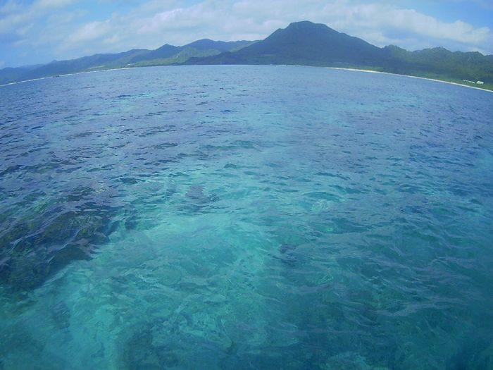 さらに穏やかな海です